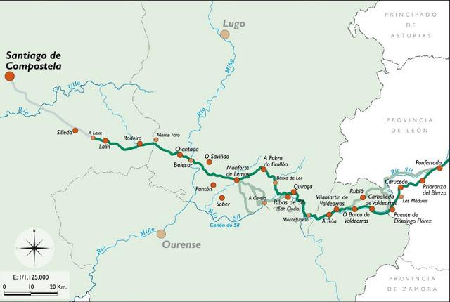 Jakobsweg Länge vom Camino del Invierno