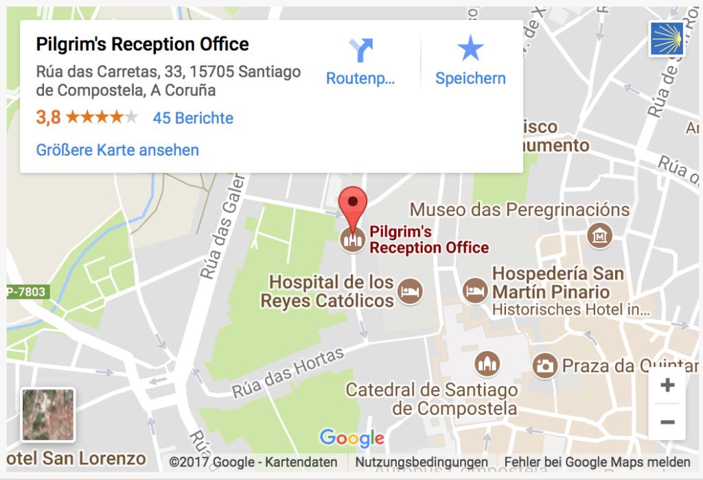 Pilgerausweis Büro in Santiago