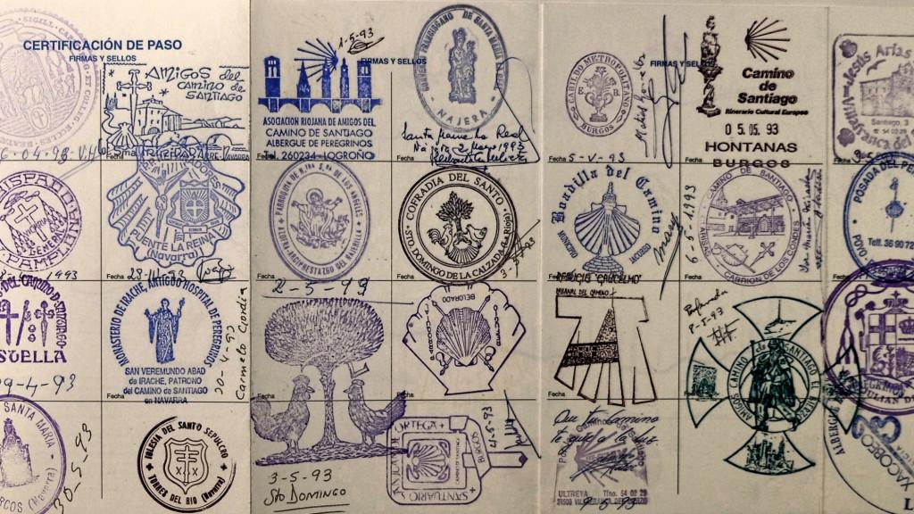 Pilgerausweis Stempelsammlung
