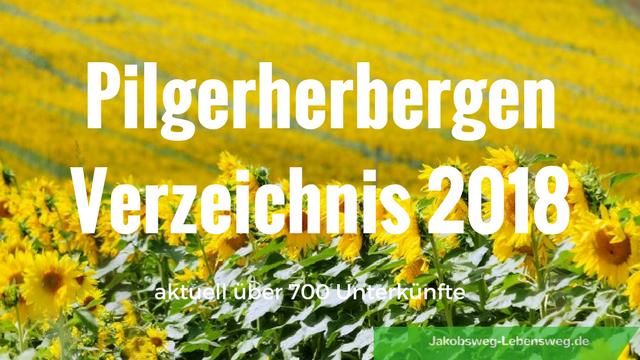 Pilgerherbergen-Verzeichnis 2018