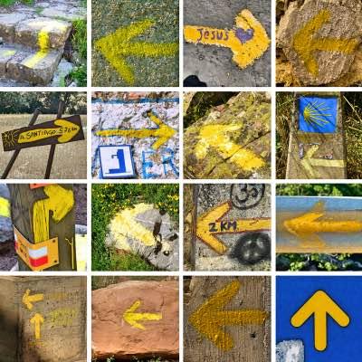 Jakobsweg Route Gelbe Pfeile