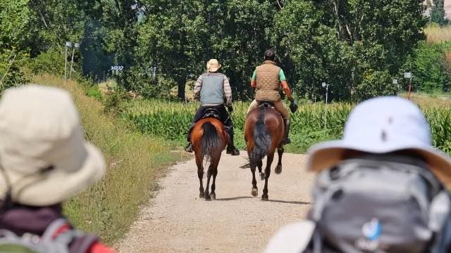 Jakobsweg Route Pferd und REiter