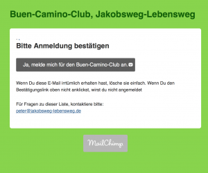 buen camino club login jakobsweg lebensweg. Black Bedroom Furniture Sets. Home Design Ideas