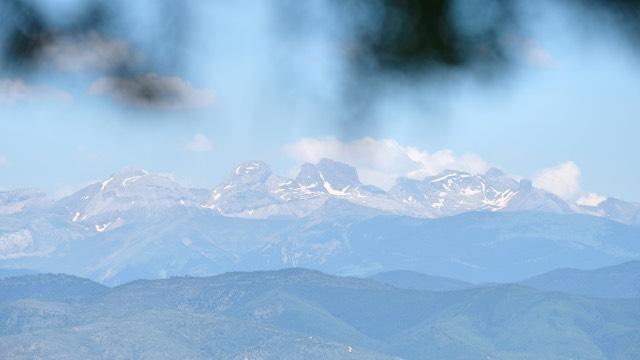 Camino Aragones Bergkette
