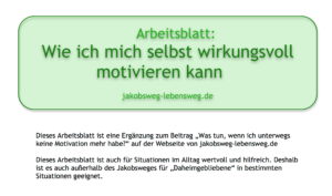 Arbeitsblatt-Motivation