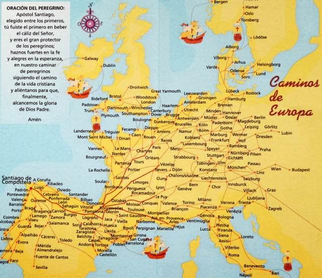Historische Jakobswege in Europa