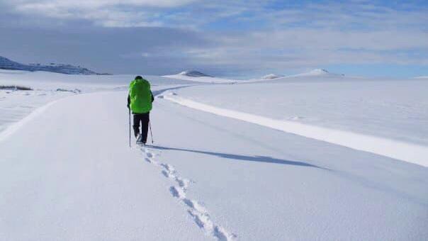 Jakobsweg im Winter Weite