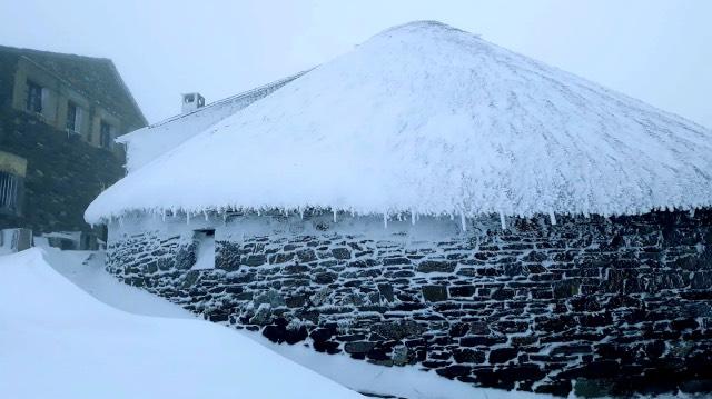 O Cebreiro Jakobsweg im Winter