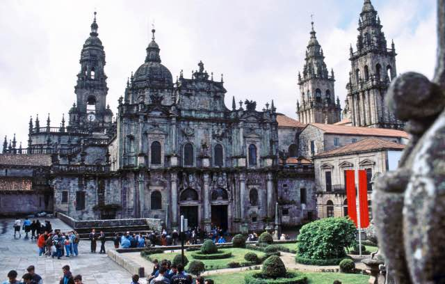 Kathedrale von Santiago de Compostela Barockfasade