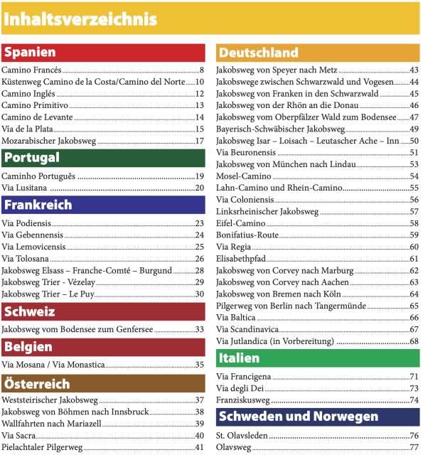 Inhaltsverzeichnis Pilgermagazin