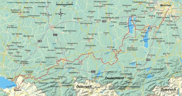 Münchner Jakobsweg Karte