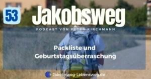 Jakobsweg Packliste