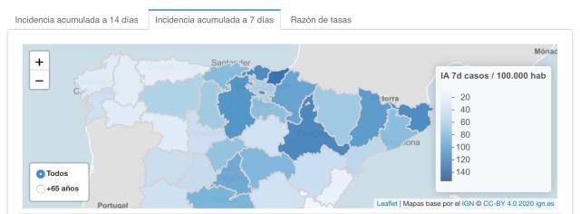 Inzidenz 060521 Spanien