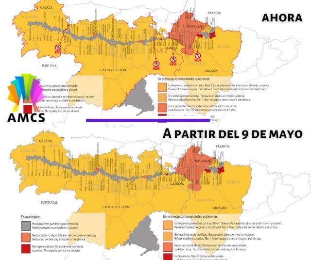 Öffnung Grenzen Camino Frances