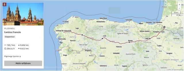 Camino Frances Karte und GPX